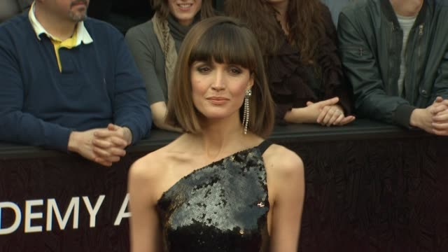 rose byrne at 84th annual academy awards arrivals on 2/26/12 in hollywood ca - rose byrne stock videos and b-roll footage