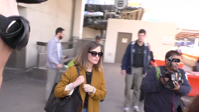 rose byrne at los angeles international airport at celebrity sightings in los angeles on april 29 2016 in los angeles california - rose byrne stock videos and b-roll footage