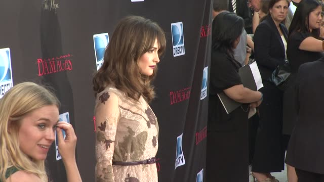 rose byrne at the 'damages' season 4 premiere at new york ny - damages television show stock videos and b-roll footage