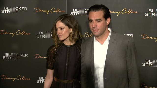rose byrne bobby cannavale at new york premiere of bleeker street's danny collins at amc lincoln square theater on march 18 2015 in new york city - rose byrne stock videos and b-roll footage