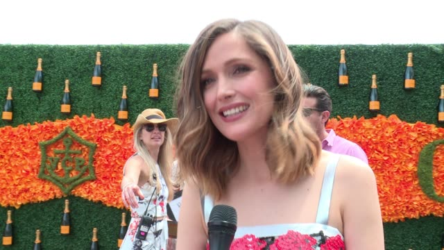 INTERVIEW Rose Byrne on attending the match at NinthAnnual Veuve Clicquot Polo Classic at Liberty State Park on June 4 2016 in Jersey City New Jersey