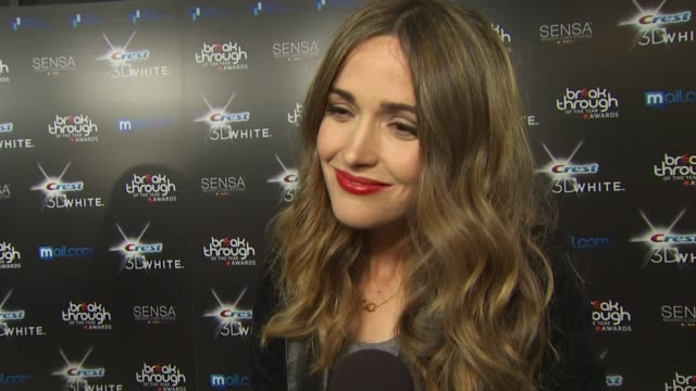 rose byrne on being here on her worst audition on her new movie 'bridesmaids' at the 2010 breakthrough of the year awards at west hollywood ca - rose byrne stock videos and b-roll footage