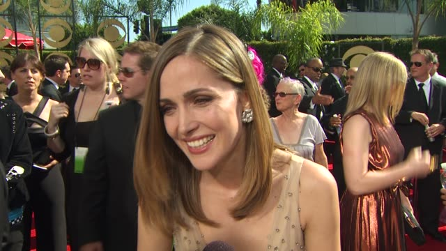 rose byrne on being nominated where she was when she heard the news if she planned a speech experiencing the emmys how long it took her to get ready... - rose byrne stock videos and b-roll footage