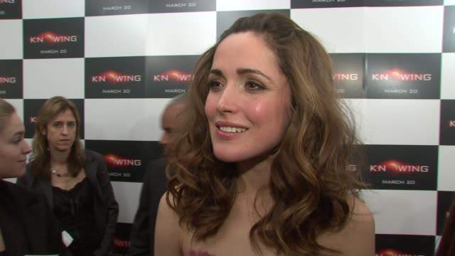 rose byrne on her character in the film playing a mother and how lara resembles her if she would want the ability to see the future and what it was... - rose byrne stock videos and b-roll footage
