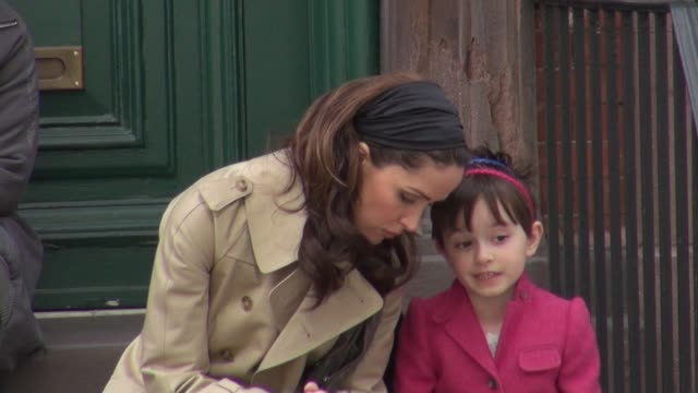 rose byrne on location for 'damages' in new york ny on 3/12/2012 - rose byrne stock videos and b-roll footage