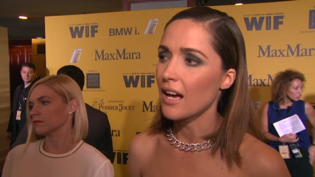 stockvideo's en b-roll-footage met rose byrne on what it means to receive this honor why wif is important in today's industry and her advice for young women hoping to break into the... - century plaza