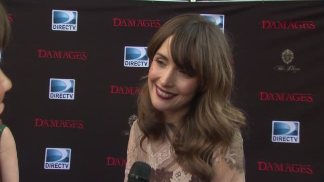 rose byrne talked about how she's had a great summer and how she's balanced all of her projects how it's hard when she's tired to keep up an american... - damages television show stock videos and b-roll footage
