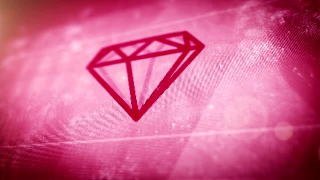 vidéos et rushes de rose diamants en boucle - diamand