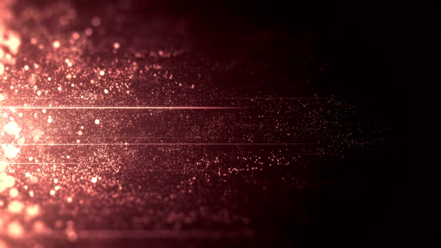 rose gold / purple / red particles moving horizontally - loop - luminosità video stock e b–roll