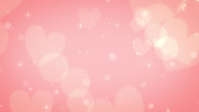 Rose gold subtle looping heart bokeh background