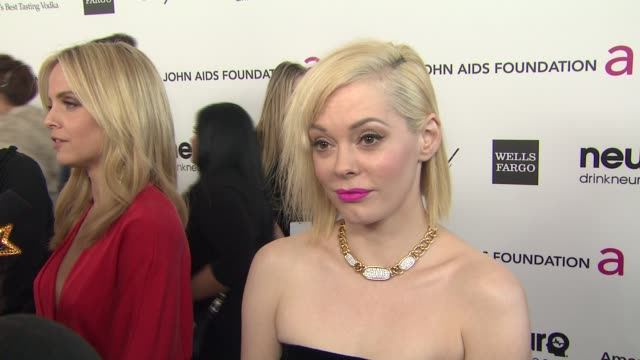 INTERVIEW Rose McGowan at Elton John AIDS Foundation Presents 21st Annual Academy Awards Viewing Party Sponsored By Chopard Neuro Drinks And Wells...