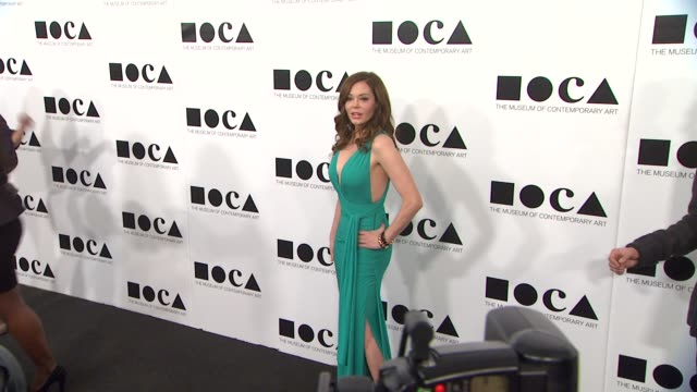 rose mcgowan at the the museum of contemporary art los angeles presents the annual moca gala at los angeles ca - los angeles museum of contemporary art stock videos and b-roll footage