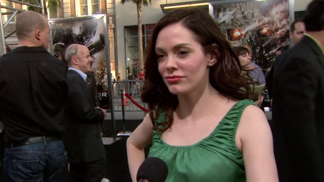 rose mcgowan on voicing the terminator salvation video game. at the 'terminator salvation' premiere at hollywood ca. - terminator stock videos & royalty-free footage