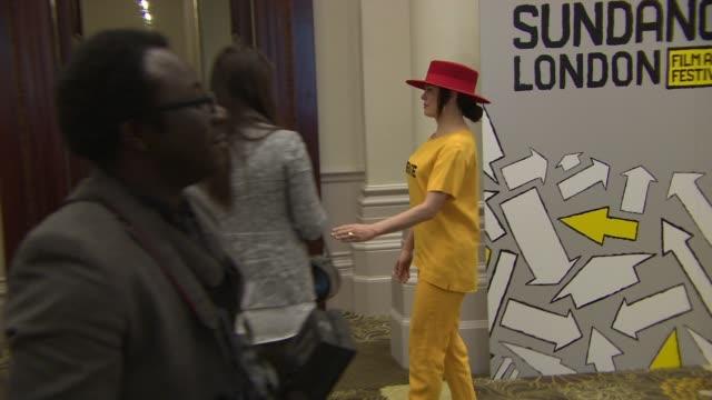 broll rose mcgowan ryan coogler jane lipsitz dan cutforth at sundance london filmmaker's morning at langham hotel on april 24 2014 in london england - ryan coogler stock videos and b-roll footage