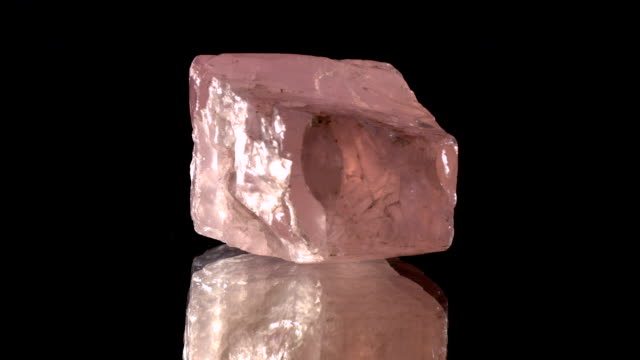 rose quartz turning on black - salt mineral stock videos & royalty-free footage