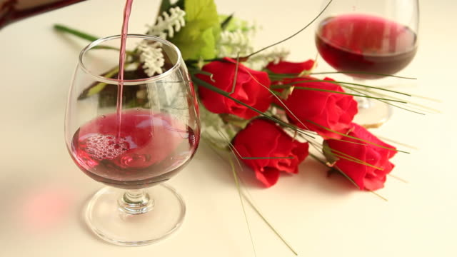 rose wine, - valentine's day stock videos & royalty-free footage