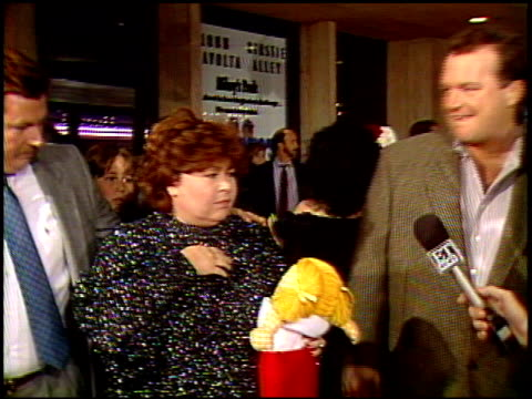 roseanne at the 'look who's talking too' premiere at century plaza in century city california on december 13 1990 - roseanne barr stock videos & royalty-free footage