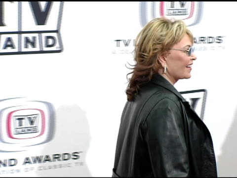 roseanne barr at the 3rd annual tv land awards arrivals at santa monica airport in santa monica california on march 13 2005 - roseanne barr stock videos & royalty-free footage