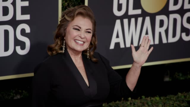 Roseanne Barr at the 75th Annual Golden Globe Awards at The Beverly Hilton Hotel on January 07 2018 in Beverly Hills California