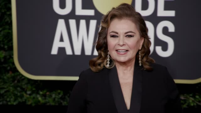 roseanne barr at the 75th annual golden globe awards at the beverly hilton hotel on january 07 2018 in beverly hills california - roseanne barr stock videos & royalty-free footage