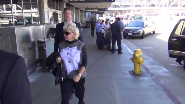 roseanne barr departing at lax airport at celebrity sightings in los angeles on october 06 2015 in los angeles california - roseanne barr stock videos & royalty-free footage