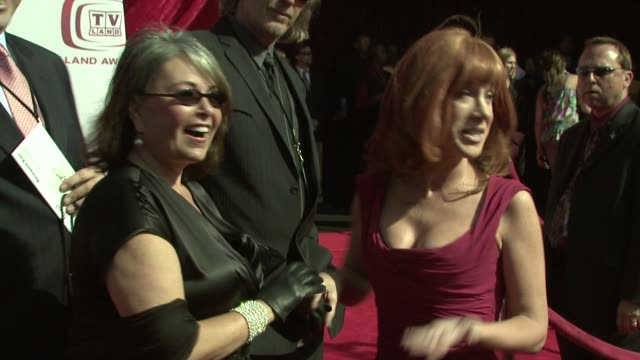 roseanne barr kathy griffin at the tv land awards at los angeles california - roseanne barr stock videos & royalty-free footage