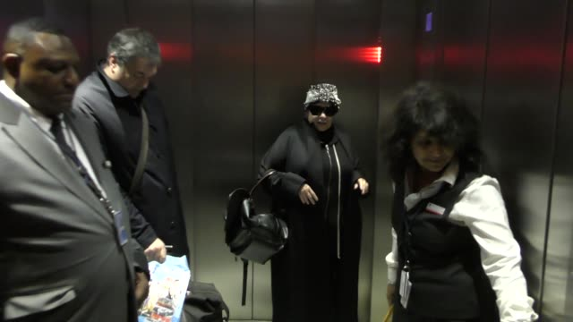 roseanne barr laughs off trump's claim that he is responsible for the show ratings as she departs out of lax airport in los angeles in celebrity... - roseanne barr stock videos & royalty-free footage