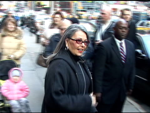 roseanne barr leaves good morning america 01/05/11 at the celebrity sightings in new york at new york ny - roseanne barr stock videos & royalty-free footage