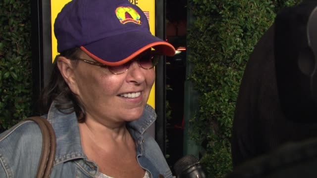roseanne barr on michael moore at the 'capitalism a love story special screening at beverly hills ca - roseanne barr stock videos & royalty-free footage