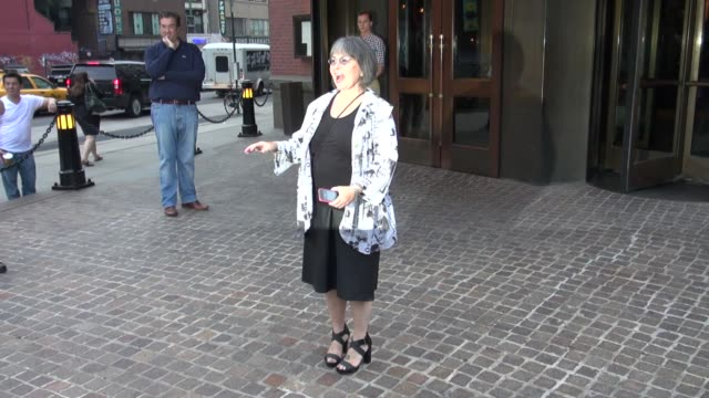 roseanne barr outside the soho grand hotel in new york ny on 07/23/12 - roseanne barr stock videos & royalty-free footage