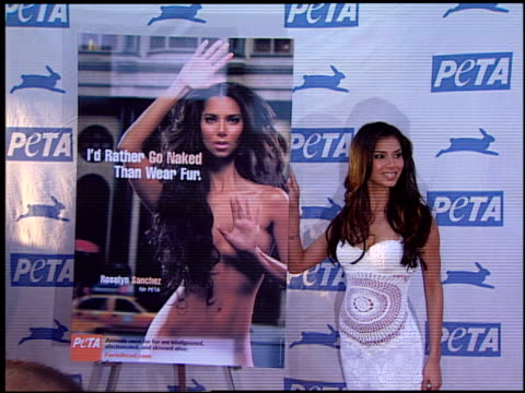 roselyn sanchez at the peta's 25th anniversary gala and humanitarian awards show at paramount studios in hollywood california on september 10 2005 - 25th anniversary stock videos & royalty-free footage