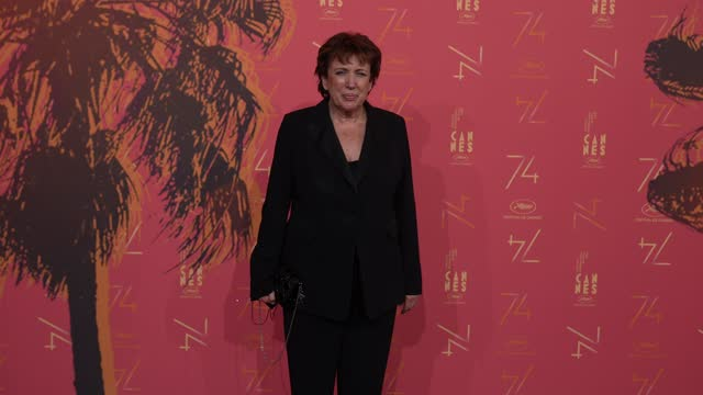 roselyne bachelot attends the opening ceremony gala dinner of the 74th annual cannes film festival on july 6, 2021 in cannes, france. - roselyne bachelot stock videos & royalty-free footage