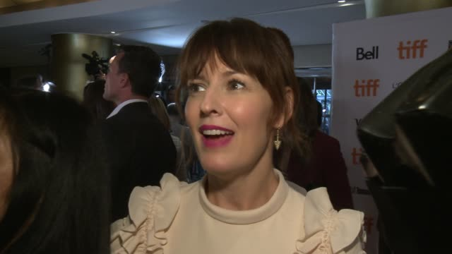 interview rosemarie dewitt on what it was like to be apart of this film and why despite being a musical this film is for everyone at princess of... - toronto international film festival stock videos and b-roll footage