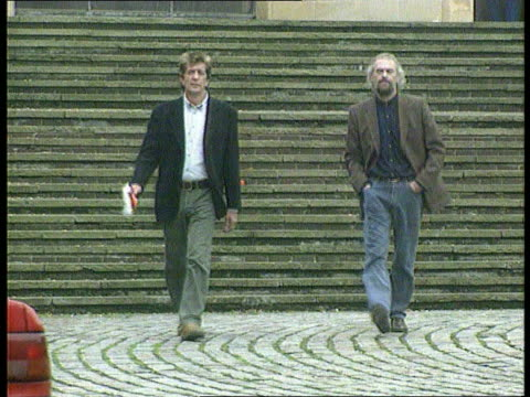 former lodgers give evidence england hampshire winchester winchester crown court ben stanniland and fellow lodger david evans towards from court - former stock videos & royalty-free footage
