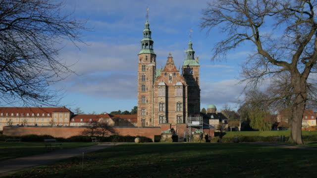 rosenborg castle copenhagen denmark - copenhagen stock videos and b-roll footage
