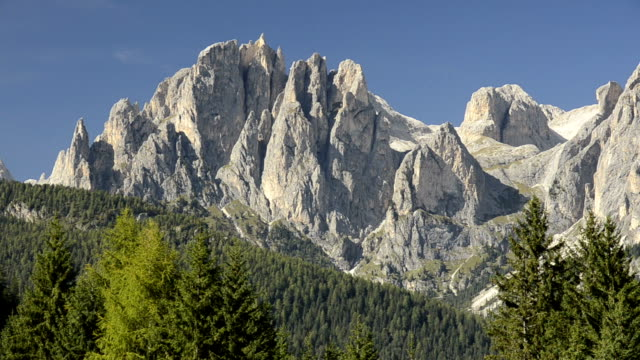 rosengarten mountain group - val di fassa stock videos and b-roll footage