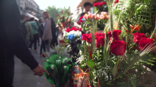 Roses at Sant Jordi Barcelona tradition