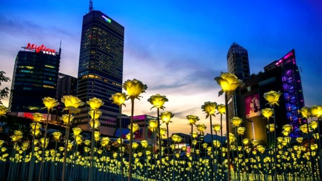LED roses flower garden at Dongdaemun Design Plaza (DDP).