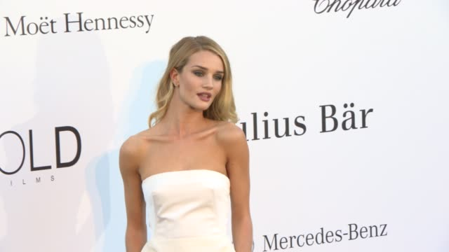 Rosie HuntingtonWhiteley at amfAR 'Cinema Against AIDS' 2013 at Hotel du CapEdenRoc on May 23 2013 in Cap d'Antibes France