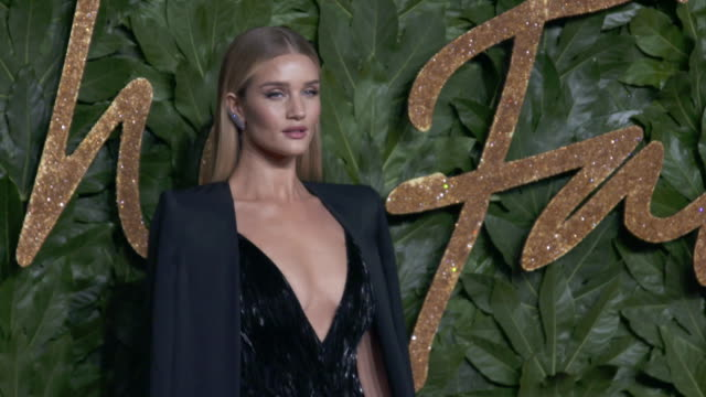 Rosie HuntingtonWhiteley at The Fashion Awards 2018 In Partnership With Swarovski red carpet at Royal Albert Hall on December 10 2018 in London...