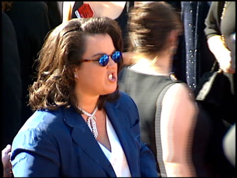 rosie o'donnell at the 1995 emmy awards arrivals at the pasadena civic auditorium in pasadena california on september 10 1995 - pasadena civic auditorium stock videos & royalty-free footage