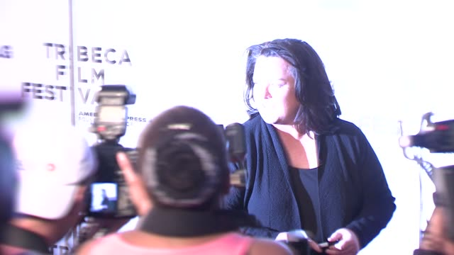 rosie o'donnell at the 7th annual tribeca film festival i am because we are premiere at borough of manhattan community college / tribeca performing... - community college stock videos & royalty-free footage
