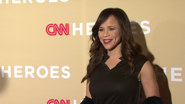 rosie perez at 2014 cnn heroes: an all star tribute - red carpet at american museum of natural history on november 18, 2014 in new york city. - rosie perez stock videos & royalty-free footage
