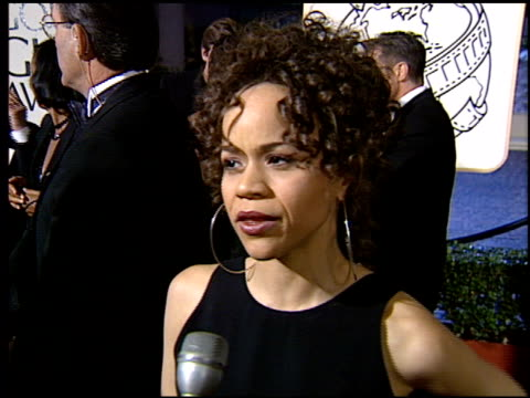 rosie perez at the 1994 golden globe awards at the beverly hilton in beverly hills, california on january 22, 1994. - rosie perez stock videos & royalty-free footage