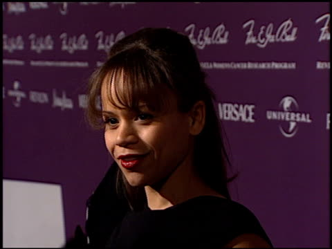 rosie perez at the 1998 fire and ice ball entrances at universal studios in universal city, california on december 9, 1998. - rosie perez stock videos & royalty-free footage