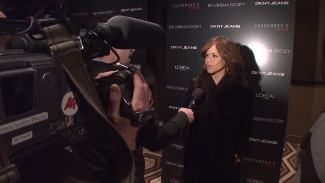 rosie perez at the new york special screening of 'cassandra's dream' at tribeca grand screening room in new york, new york on december 18, 2007. - rosie perez stock videos & royalty-free footage