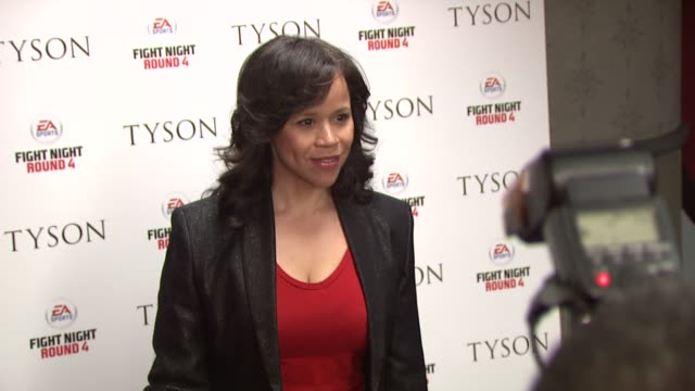rosie perez at the special screening of 'tyson' at new york ny. - rosie perez stock videos & royalty-free footage