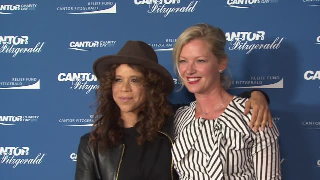 rosie perez, gretchen mol at annual charity day 2017 hosted by cantor fitzgerald, bgc and gfi on september 11, 2017 in new york city. - rosie perez stock videos & royalty-free footage