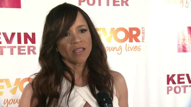 rosie perez talks about her uinvolvement with the trevor project and how important the cause is for people to tell their story and share in the... - rosie perez stock videos & royalty-free footage