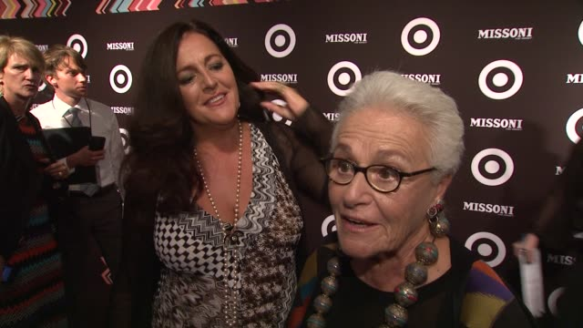 vídeos de stock, filmes e b-roll de rosita missoni says she will be a customer at the missoni for target private launch event at new york ny - missoni